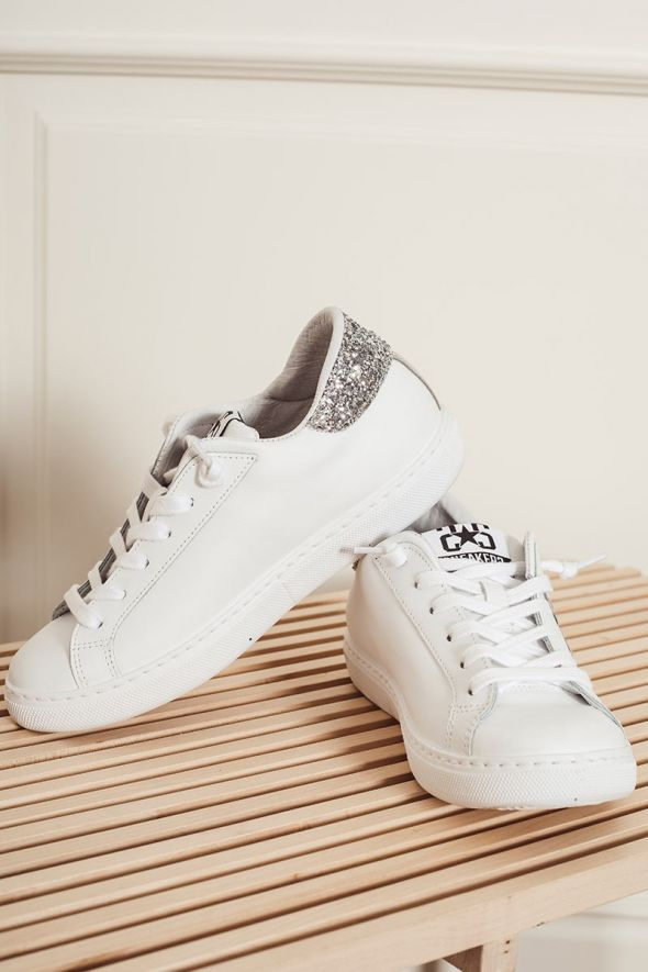 2star Sneakers low bianco argento