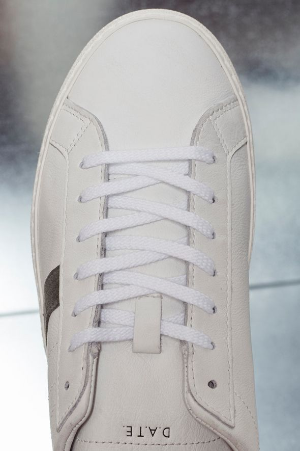 D.A.T.E. Sneakers uomo HILL LOW VINTAGE CALF white-burgundy