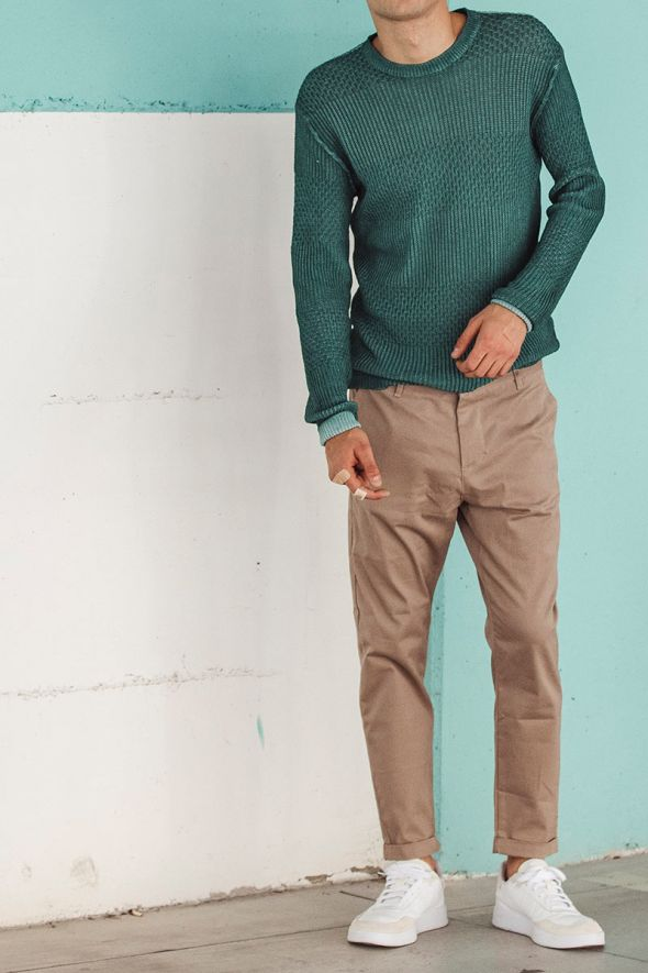 IMPERIAL Pantalone chino cropped