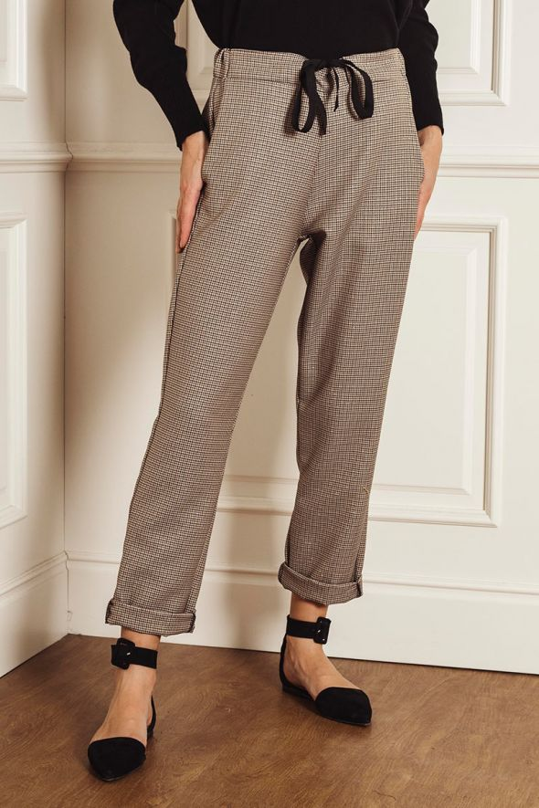 Incloth Pantalone stampa check con coulisse