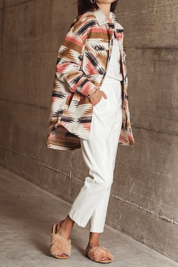 Only Overshirt in panno stampa multicolor
