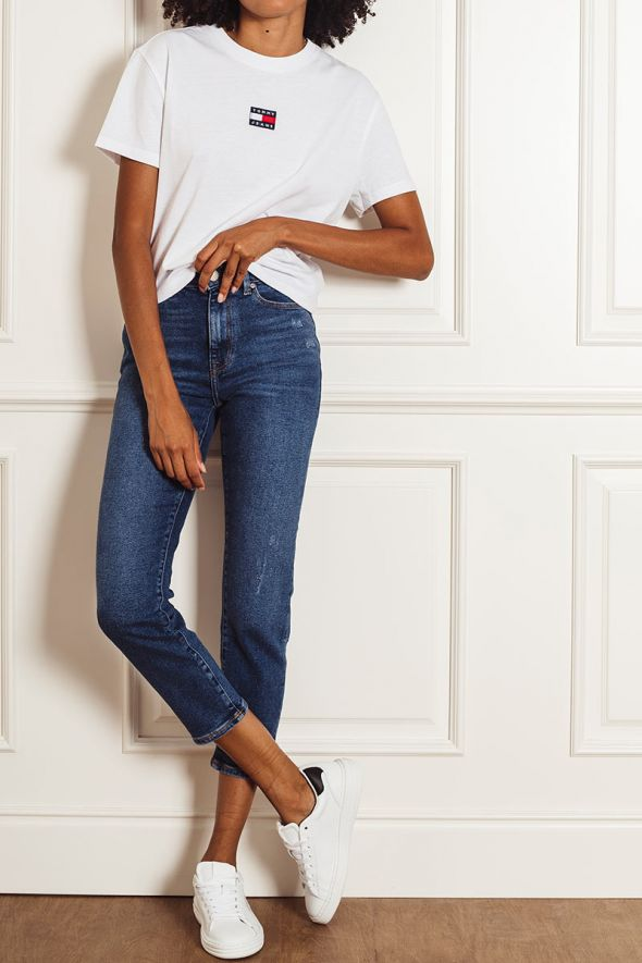 Only Jeans ankle straight fit blu