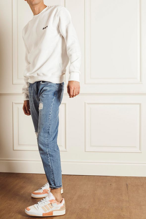P.GRAX Jeans Blacksmith HB45 Cropped Fit con rotture