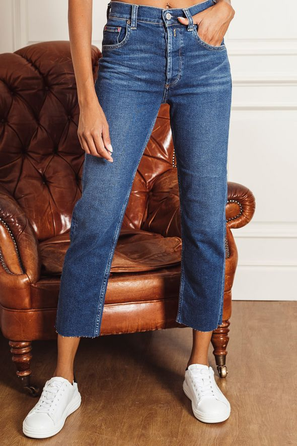 Replay Jeans crop high waist straight fit maijke rose label