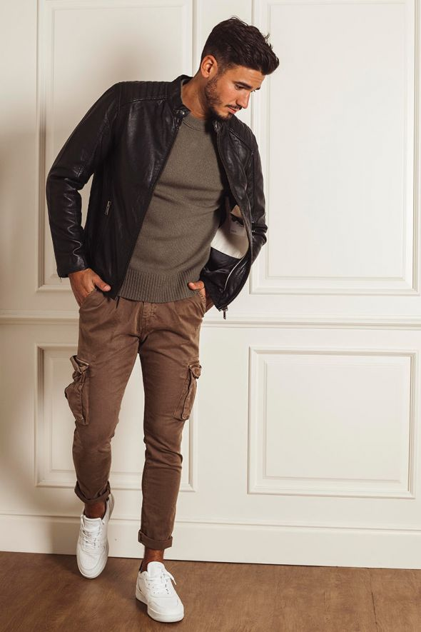 SELECTED Giacca racer in pelle