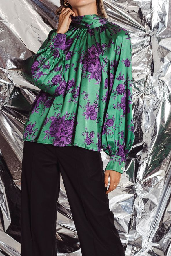 Tensione In Blusa stampa floreale