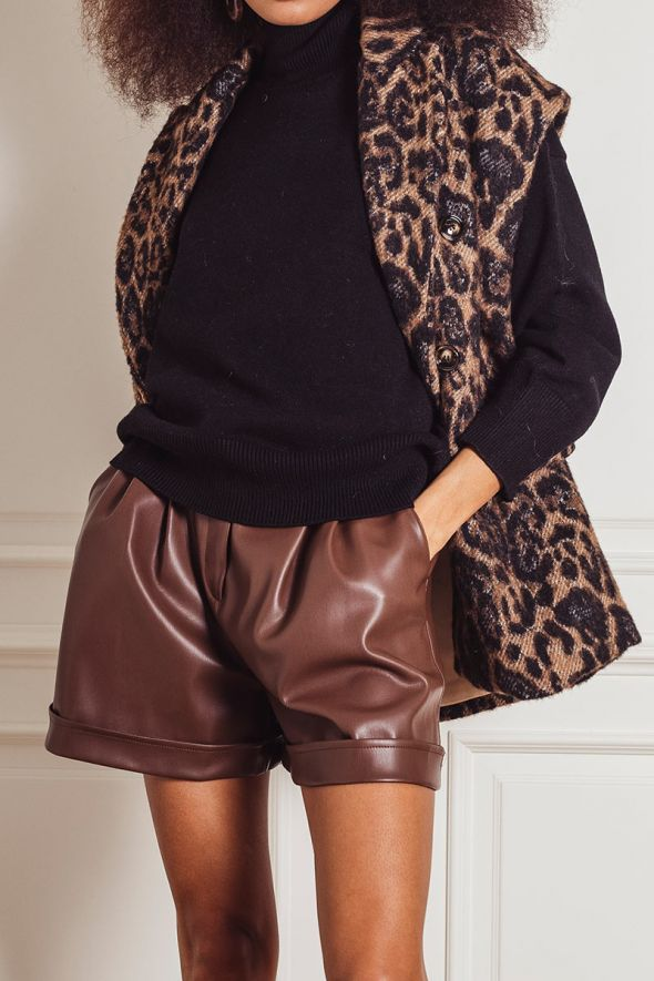 Tensione In Gilet stampa animalier