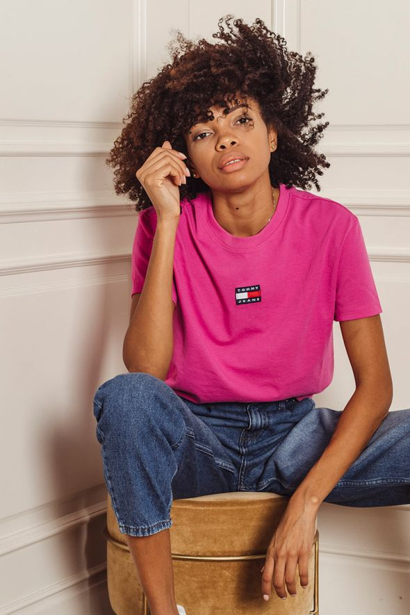 Tommy Hilfigher T-shirt girocollo con logo patch