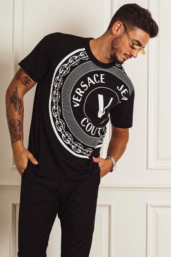 VERSACE JEANS COUTURE T-shirt maxi stampa
