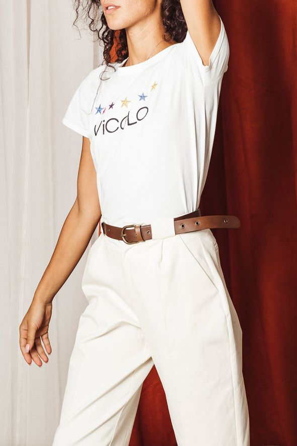 Vicolo T-shirt stampa frontale