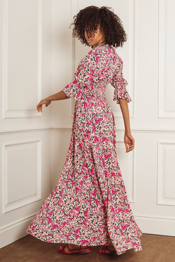 ANIYE BY Abito mini bouquet LONG DRESS ISABEL