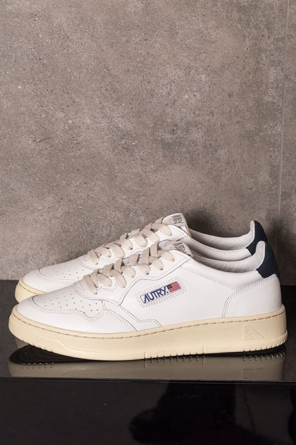 AUTRY Sneakers uomo low bianco blu