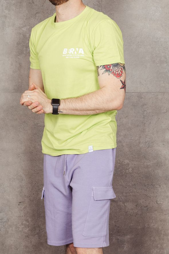 Berna T-shirt con stampa lime