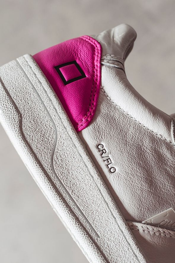 D.A.T.E. Sneakers donna COURT FLUO white fuxia