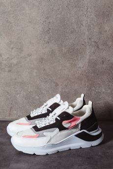 D.A.T.E. Sneakers donna FUGA white black
