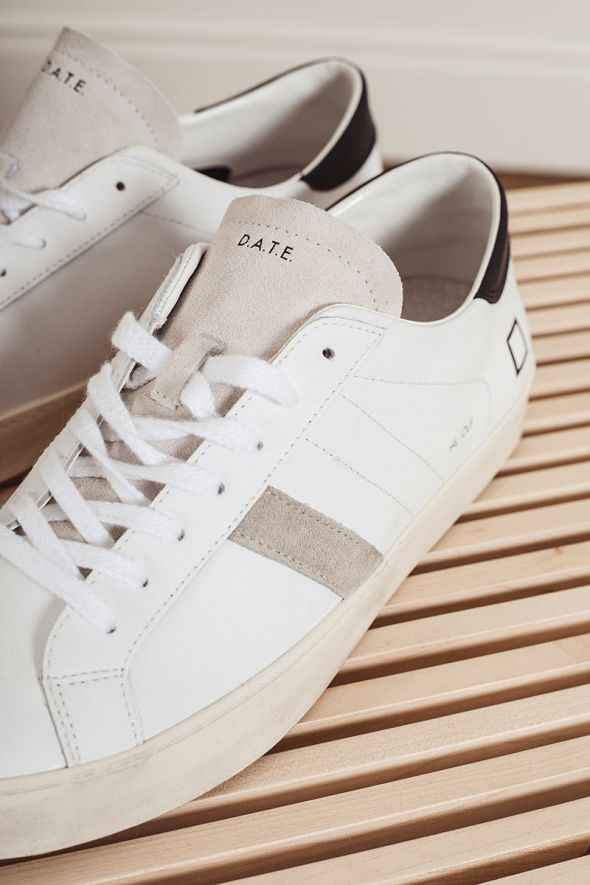 D.A.T.E. Sneakers uomo HILL LOW calf white-black