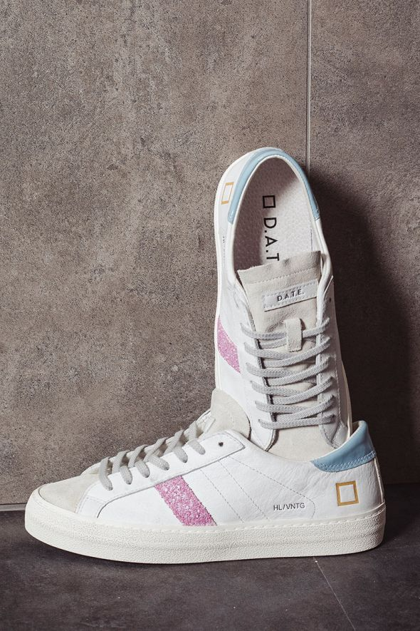 D.A.T.E. Sneakers donna HILL LOW VINTAGE CALF white sky