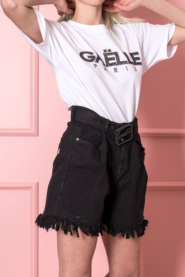 GAELLE Shorts con rotture
