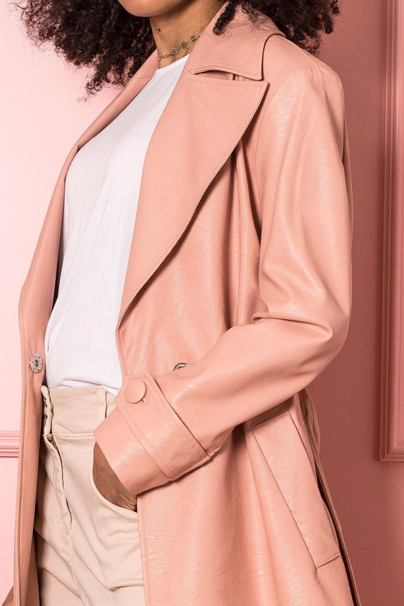 IMPERIAL Trench in similpelle con cintura