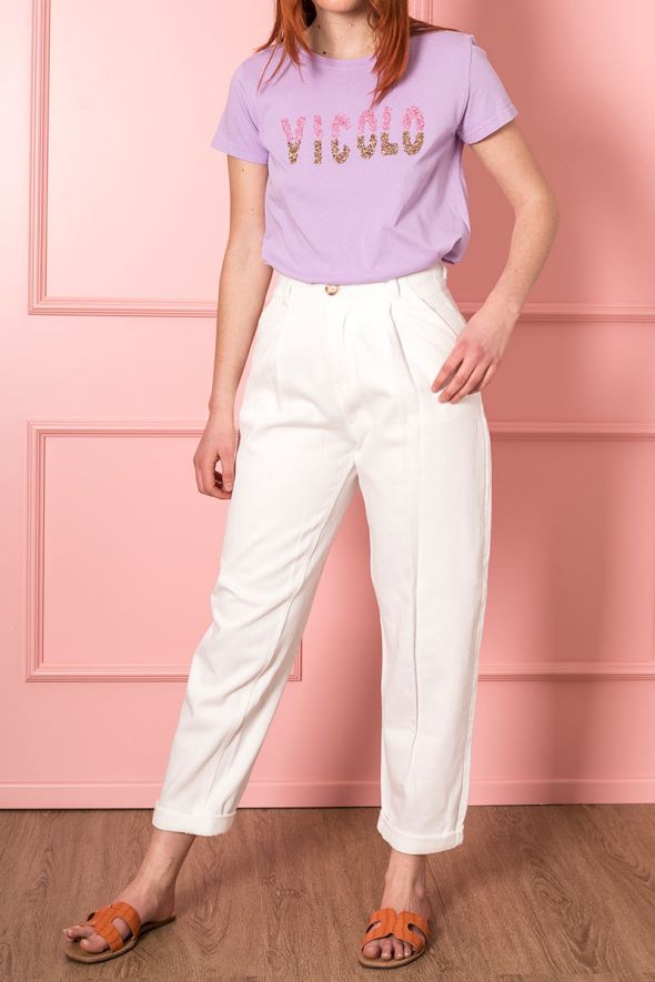 Imperial Pantalone curved line con doppie pinces