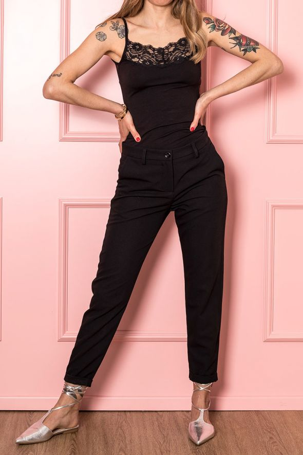 Imperial Pantalone Cropped con tasche laterali