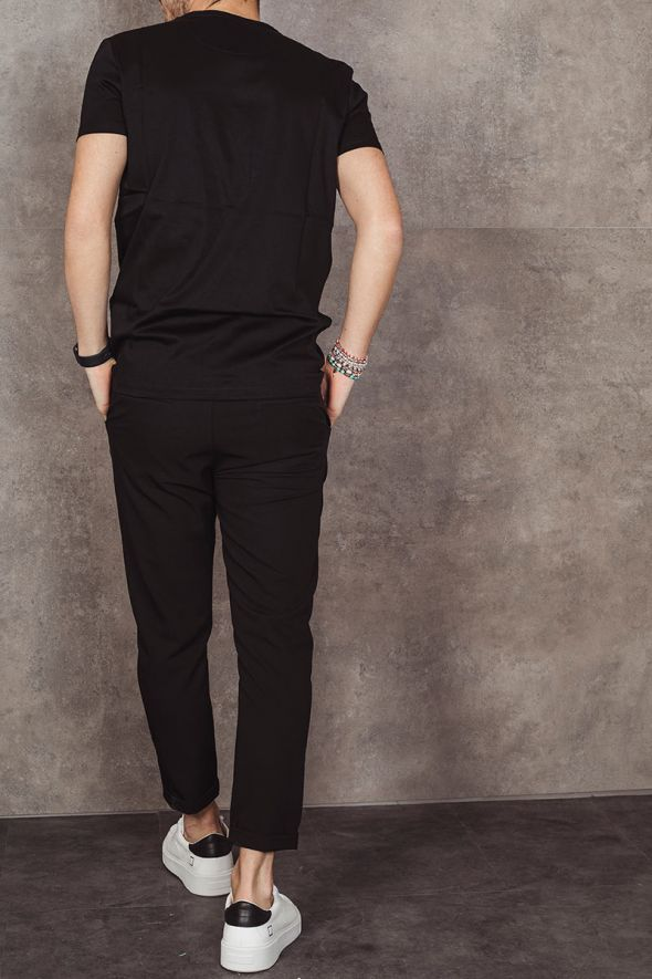 IMPERIAL Pantalone nero cropped