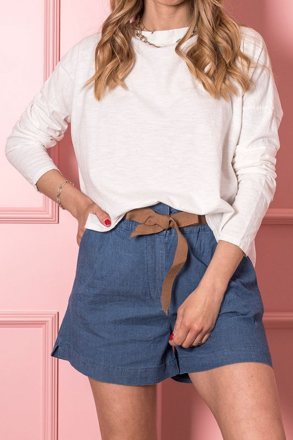 Kikisix Short chambray jeans