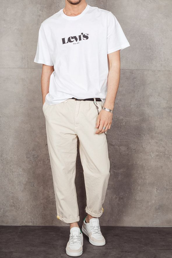 LEVI'S T-shirt bianca relaxed fit