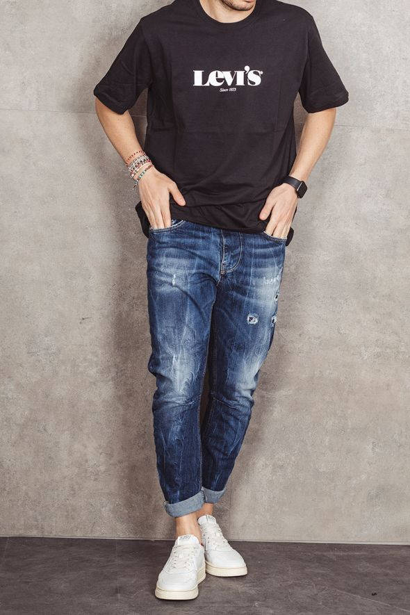 LEVI'S T-shirt nera relaxed fit