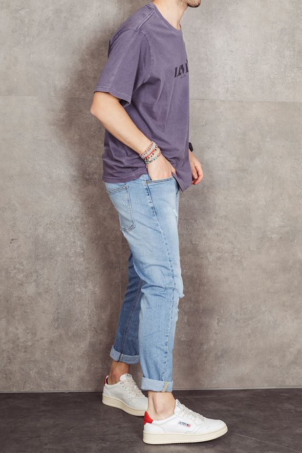 LEVI'S T-shirt viola relaxed fit