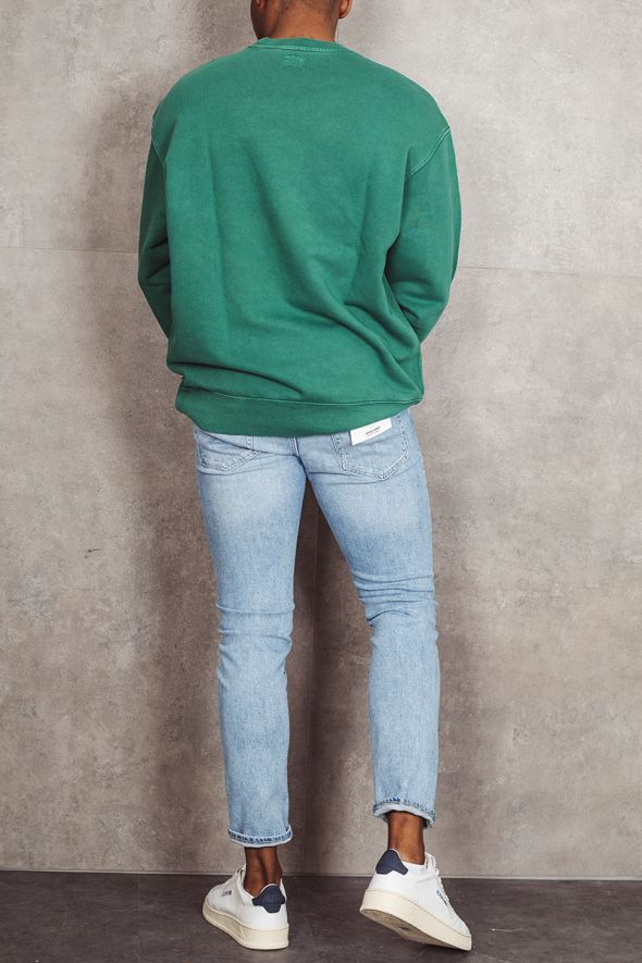 LEVI'S Felpa verde RELAXED GRAPHIC