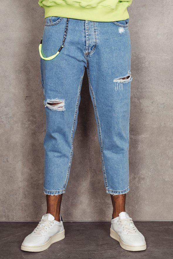MAIN DELUXE Jeans loose fit con strappi