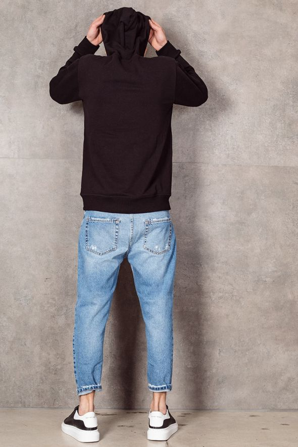 MAIN DELUXE Jeans loose fit con rotture