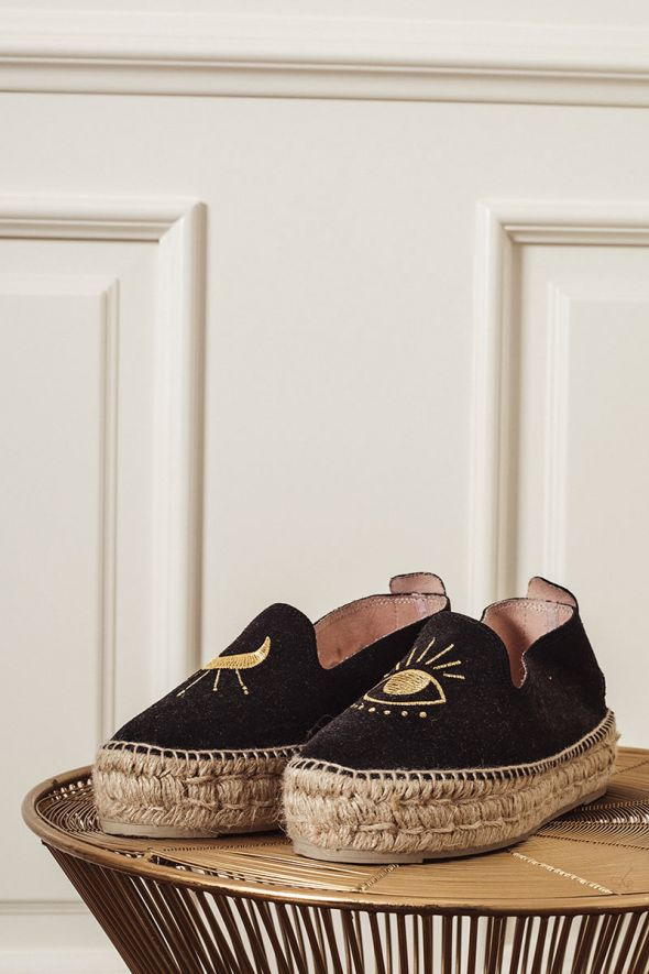 MANEBI' Espadrilles Palm Springs Black & Eye
