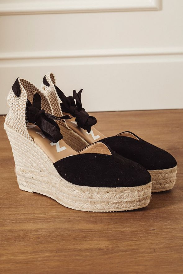 MANEBI' Wedge Sandals Hamptons black