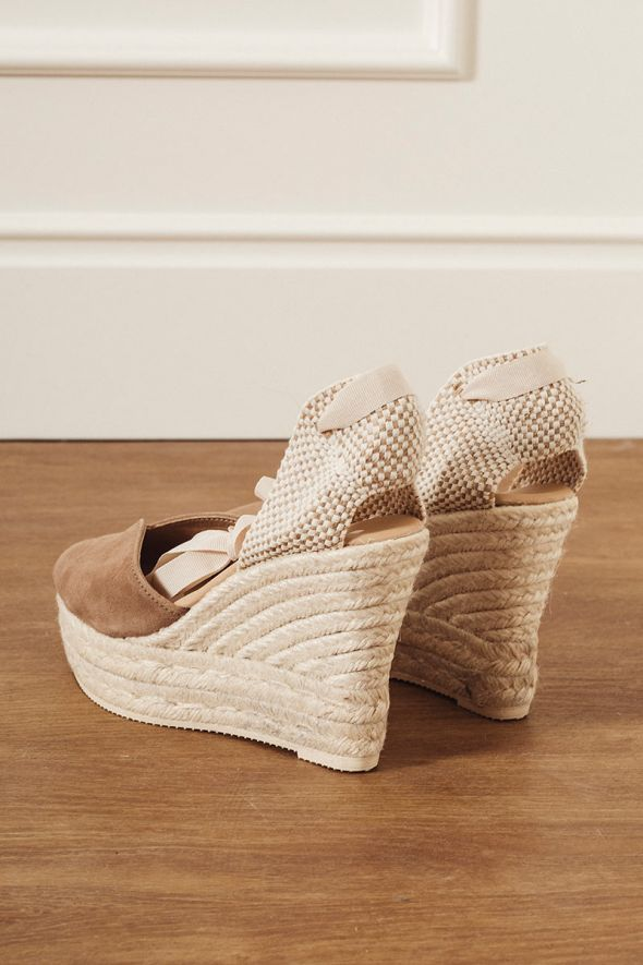 MANEBI' Wedge Sandals Hamptons vintage taupe