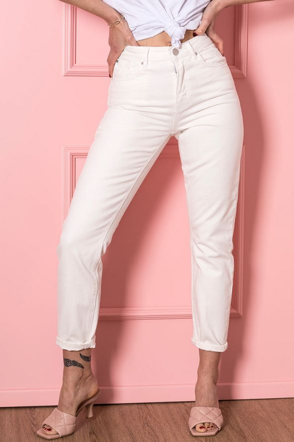 ONLY Jeans mom fit bianco