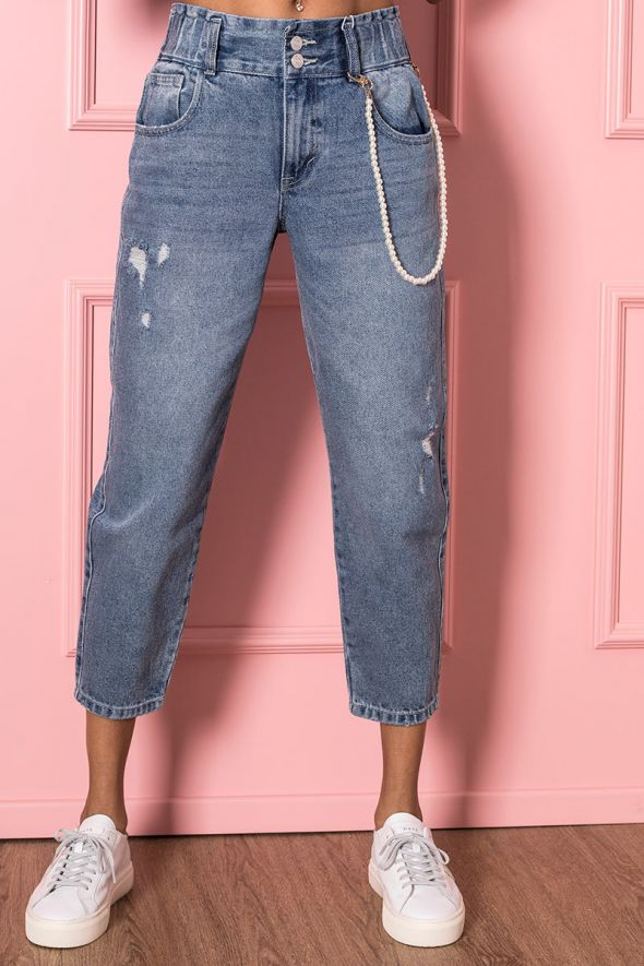 Only Jeans carrot fit con perle