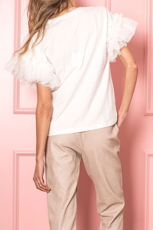 Only T-shirt applicazione tulle