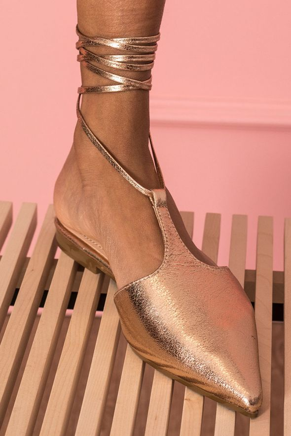 Our Selection Flatform in ecopelle champagne