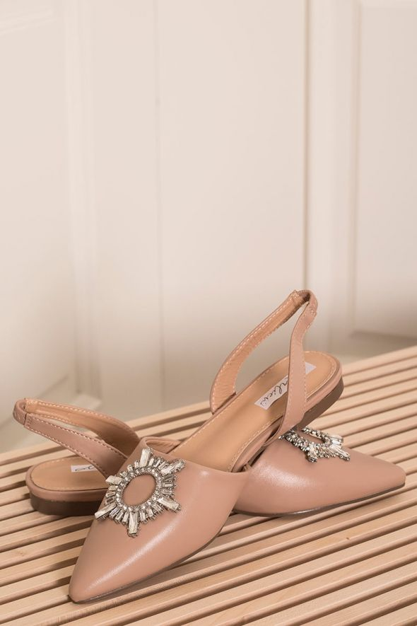 Our Selection sandalo in ecopelle beige