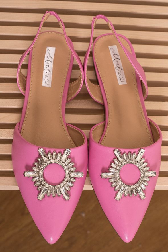 Our Selection sandalo in ecopelle rosa