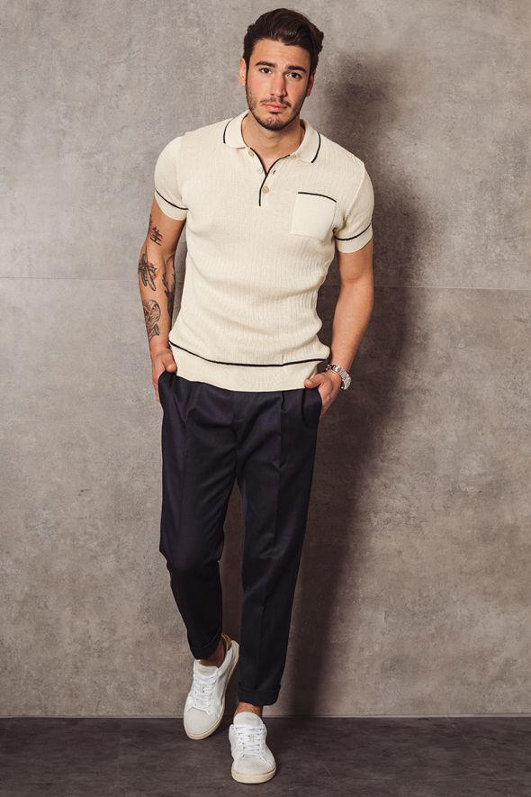 OUT/FIT Polo in cotone a coste