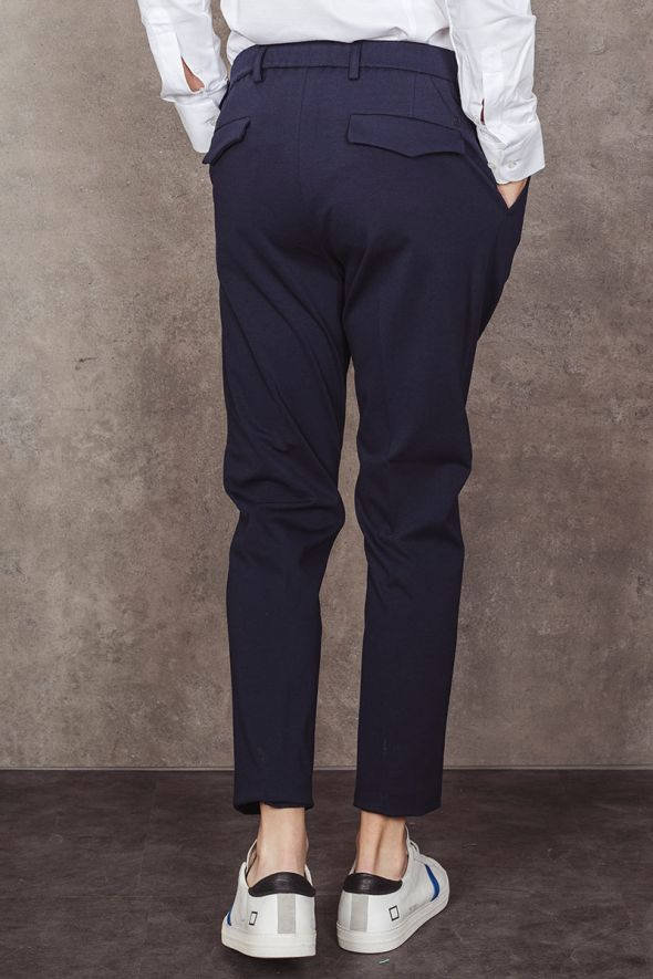 OUT/FIT Pantalaccio blu con pince