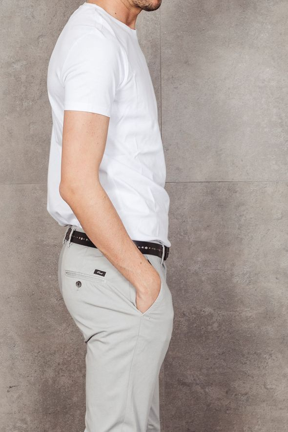OUTFIT T-shirt bianca basic slim fit