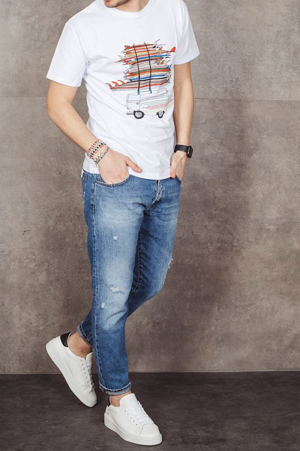 OUT/FIT T-shirt bianca OUTFIT CREW