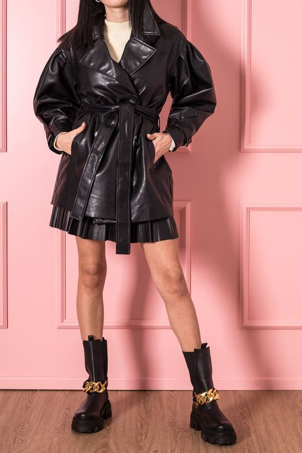 Petite Femme Trench ecopelle soft touch