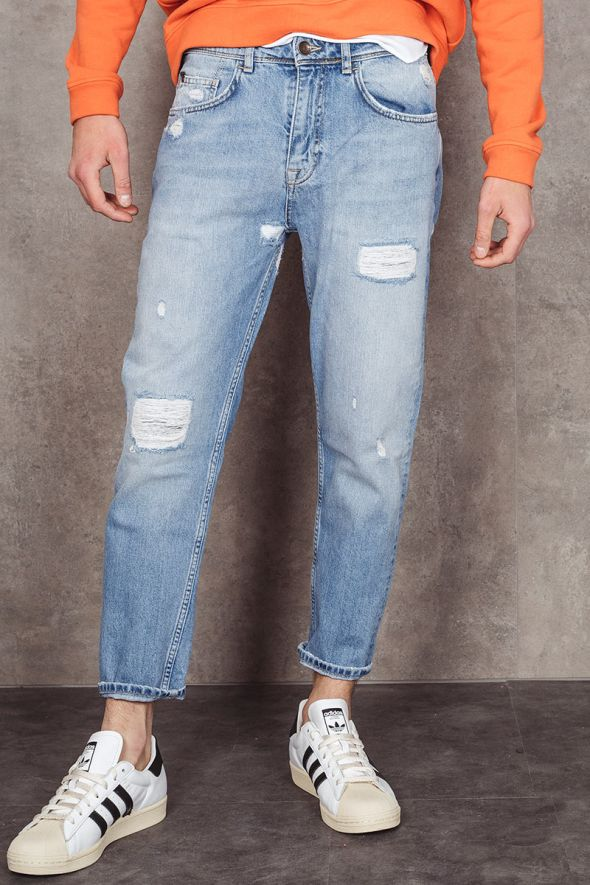P.GRAX Jeans BLACKSMITH cropped con rotture