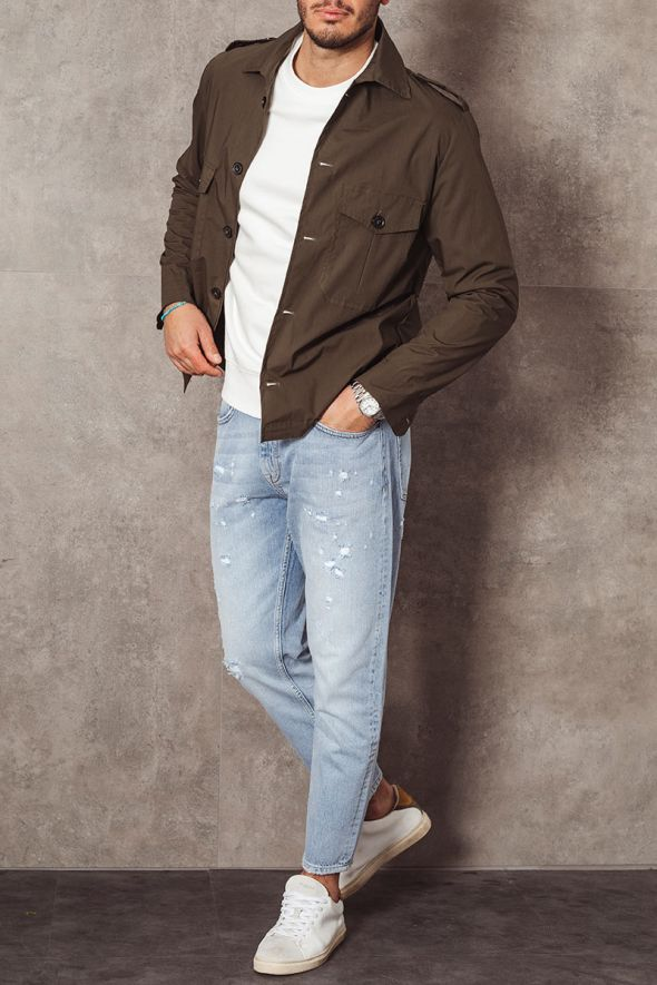 P.Grax Jeans con rotture carrot fit