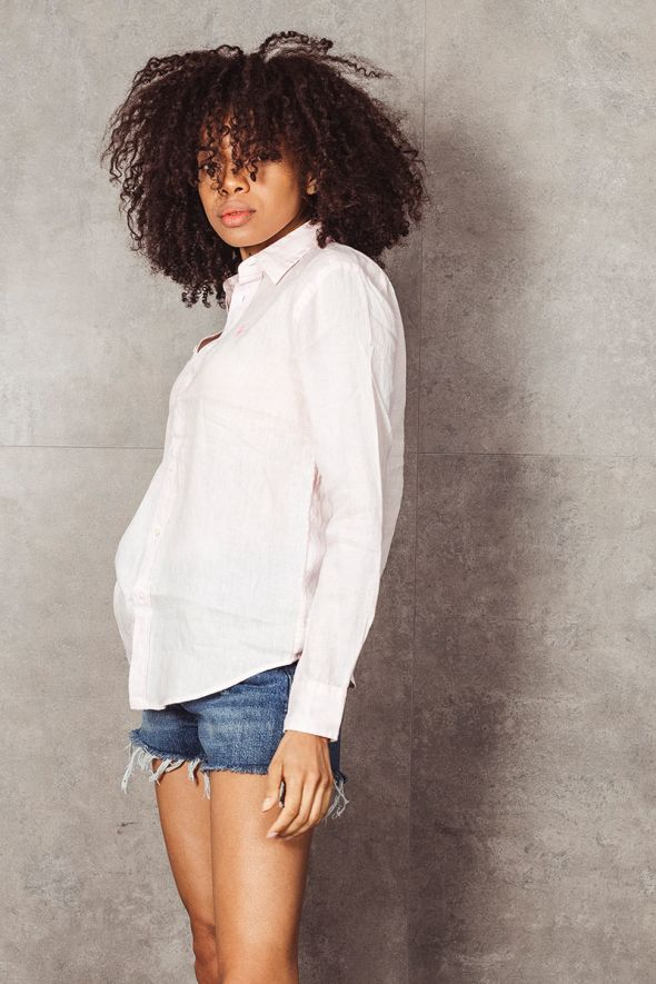 POLO RALPH LAUREN Camicia rosa in lino Relaxed-Fit